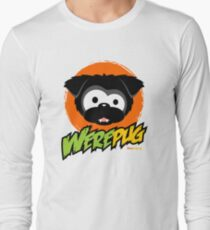 Black WerePug - White/Light Apparel & Stickers Long Sleeve T-Shirt