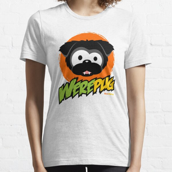 Black WerePug - White/Light Apparel & Stickers Essential T-Shirt