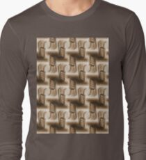 Battery Mishler ladder going nowhere, sepia pattern Long Sleeve T-Shirt