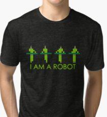 PIXEL8 | Power Station NEON | I AM A ROBOT Tri-blend T-Shirt