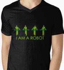 PIXEL8 | Power Station NEON | I AM A ROBOT Men's V-Neck T-Shirt