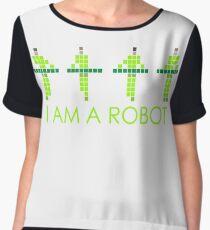 PIXEL8 | Power Station NEON | I AM A ROBOT Women's Chiffon Top