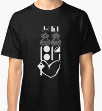 Vertical Logos. White. Classic T-Shirt