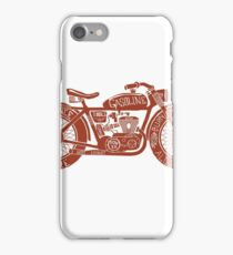Vintage Motorcycle Hand drawn Silhouette iPhone Case/Skin