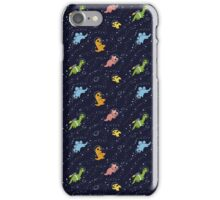 Dinosaurs In Space iPhone Case/Skin