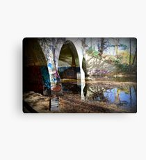 Graffiti in a tunnel Metal Print