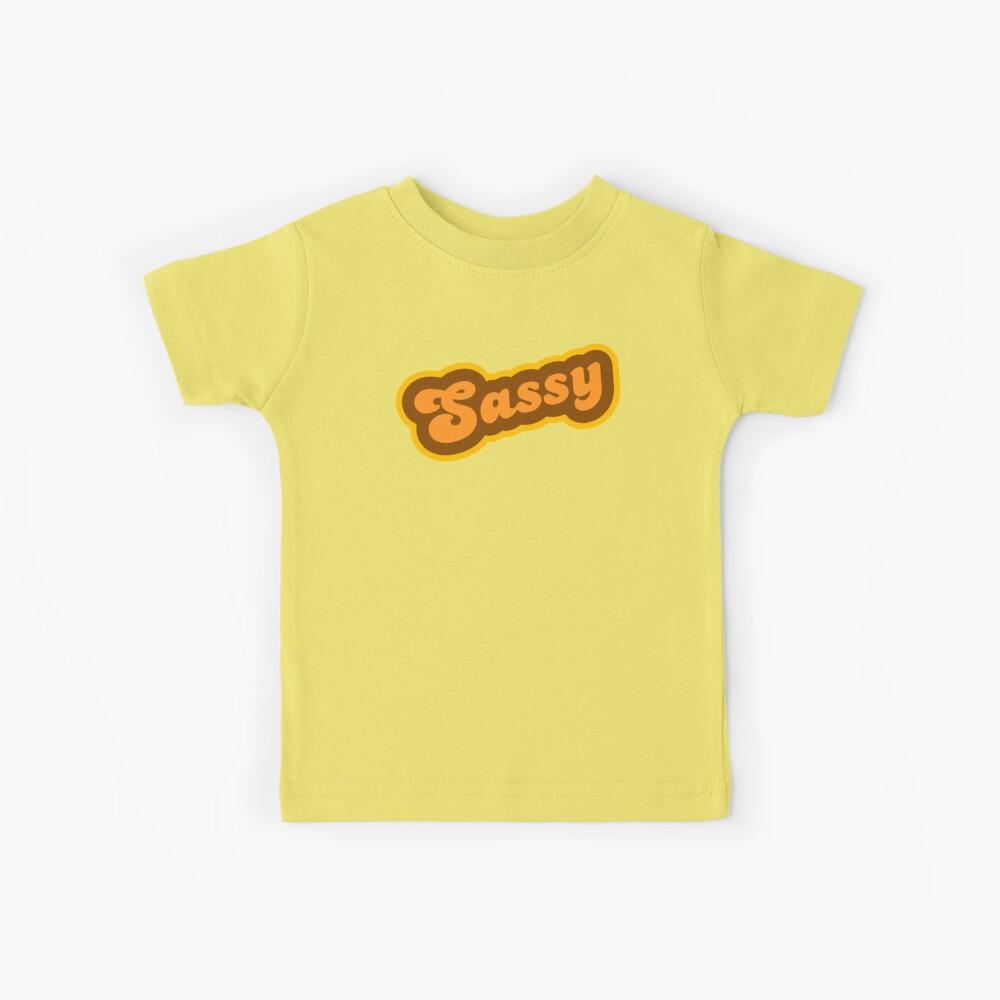Sassy - Retro 70s - Logo Kids T-Shirt