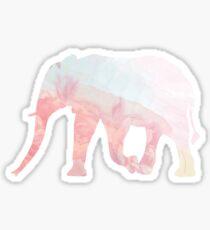 Pastel Elephant Sticker