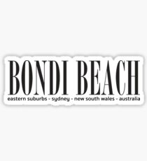 Bondi Beach address Sticker