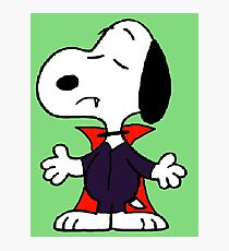 snoopy dracula Photographic Print