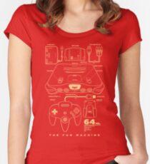 N64 Tailliertes Rundhals-Shirt