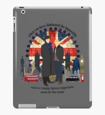Eliminate the Impossible (Black Text) iPad Case/Skin
