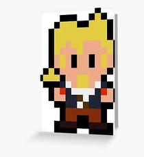 Pixel Guybrush Threepwood Greeting Card