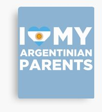 I Love My Argentinian Parents Canvas Print
