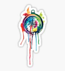 Water Colour Compass Sticker