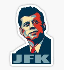 JFK Shepard Hope Style (Red Blue No Background) Sticker
