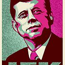 JFK Shepard Hope Style Poster (Emerald Hi-Res Textured) by CassAnaya