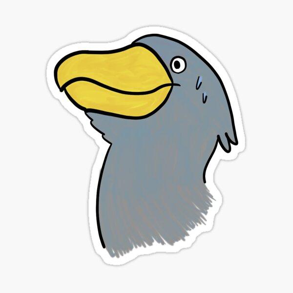 shoebill moment Sticker