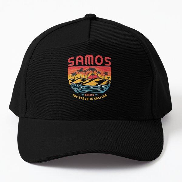 Samos Greece Souvenir Summer Aegean Greece \/ Gift Premium  Baseball Cap