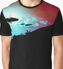 Red Sky, Blue Clouds Graphic T-Shirt