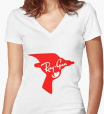 Ray Gun Women's Fitted V-Neck T-Shirt