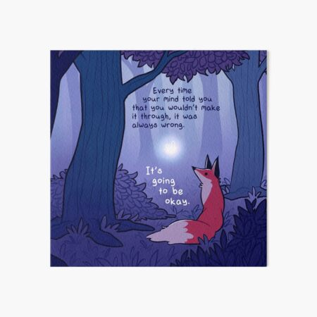 """""""It's Going to Be Okay"""" Fairy and Fox in Forest Art Board Print"""