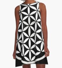 Flower of Life Yin Yang A-Line Dress