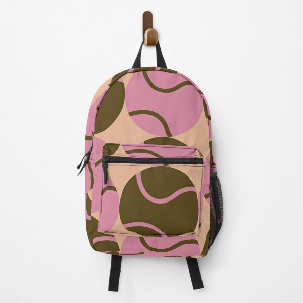 Brown and Purple Tennis Balls Backpack