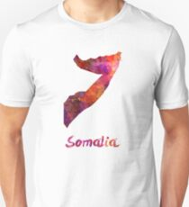 Somalia in watercolor Unisex T-Shirt