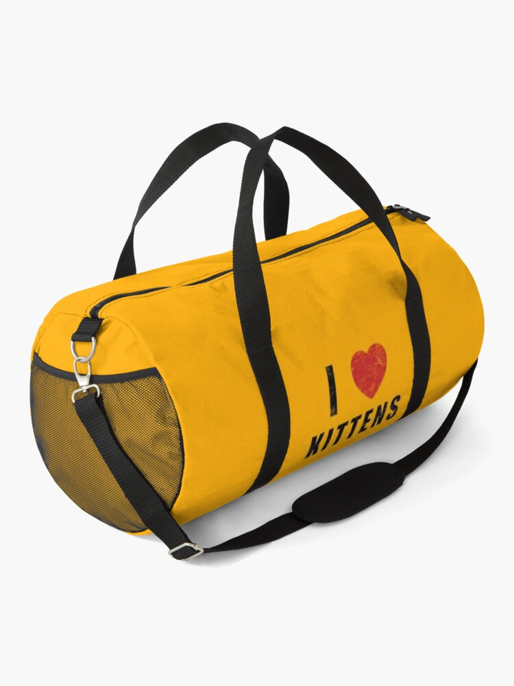 Alternate view of I HEART KITTENS (worn) [Roufxis-Rb] Duffle Bag