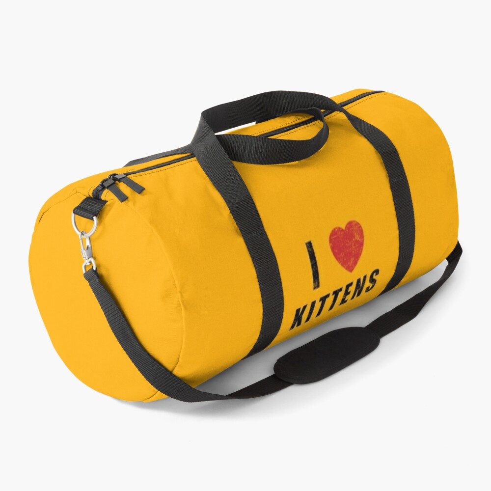 I HEART KITTENS (worn) [Roufxis-Rb] Duffle Bag