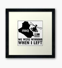 Iraq- Winning when I left Framed Print