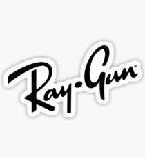 Ray Gun BW Sticker