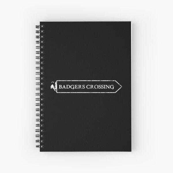Badgers Crossing (Logo) Spiral Notebook