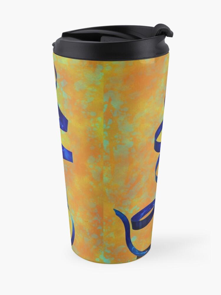 Alternate view of Twirl Abstract Art Travel Mug