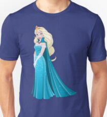 Snow Princess In Blue Dress Side Unisex T-Shirt