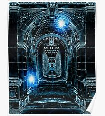 Abstract Gothic Architecture Poster