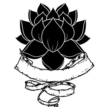 Lotus With Ribbon by loki13outlaw