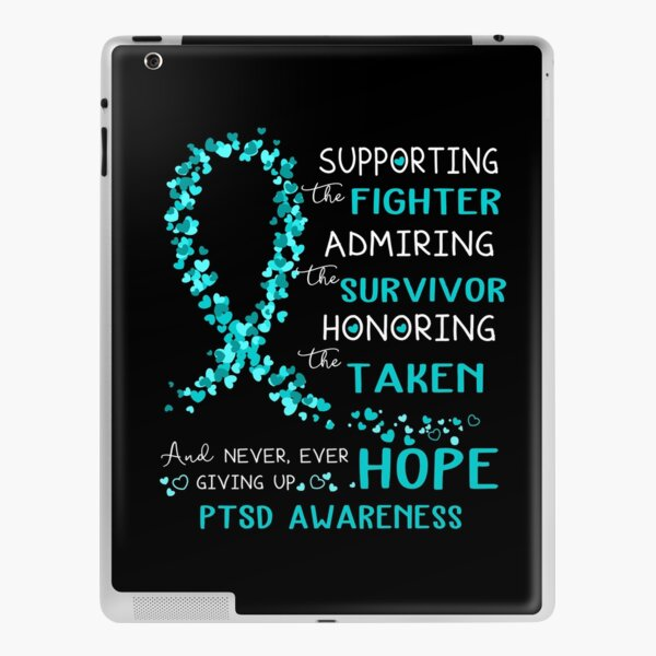 Supporting Fighter PTSD Awareness iPad Skin