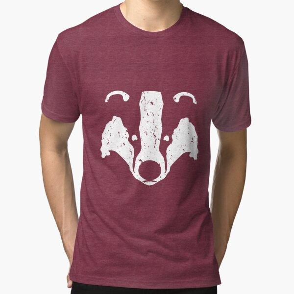 Badgers Crossing (White Badger Face) Tri-blend T-Shirt
