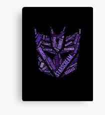 Transformers - Decepticon Wordtee Canvas Print