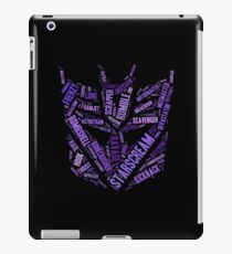 Transformers - Decepticon Wordtee iPad Case/Skin