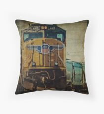 A Train to Chicago Throw Pillow