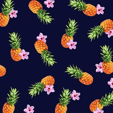 Pineapples and Flowers by LaurArt