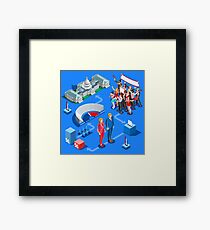 USA Political Elections Infographic Framed Print