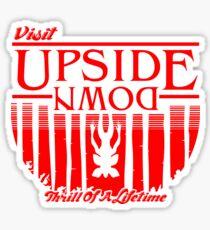 Visit Upside Down Sticker