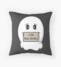 I See Real People Throw Pillow