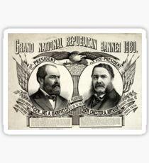 Grand national Republican banner 1880 - 1880 Sticker