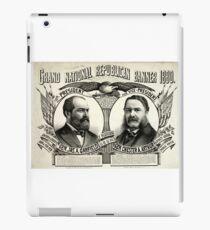 Grand national Republican banner 1880 - 1880 iPad Case/Skin