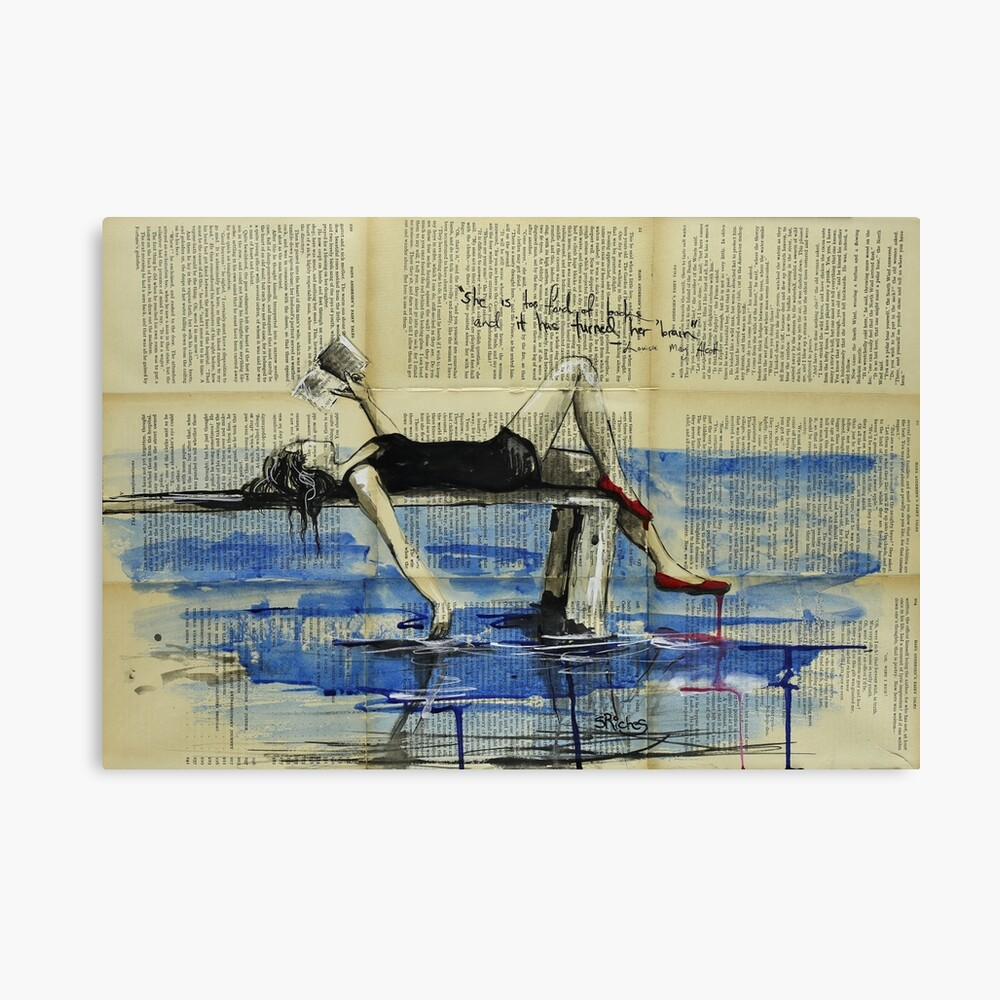 She Is Too Fond of Books Canvas Print